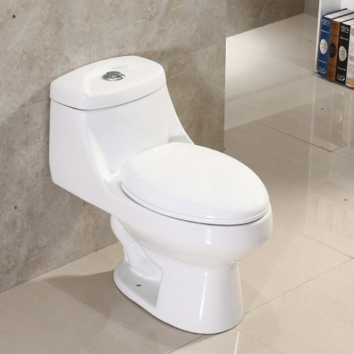 Woodbridge T-0003 One Piece Toilet Dual Flush with Soft closing Seat