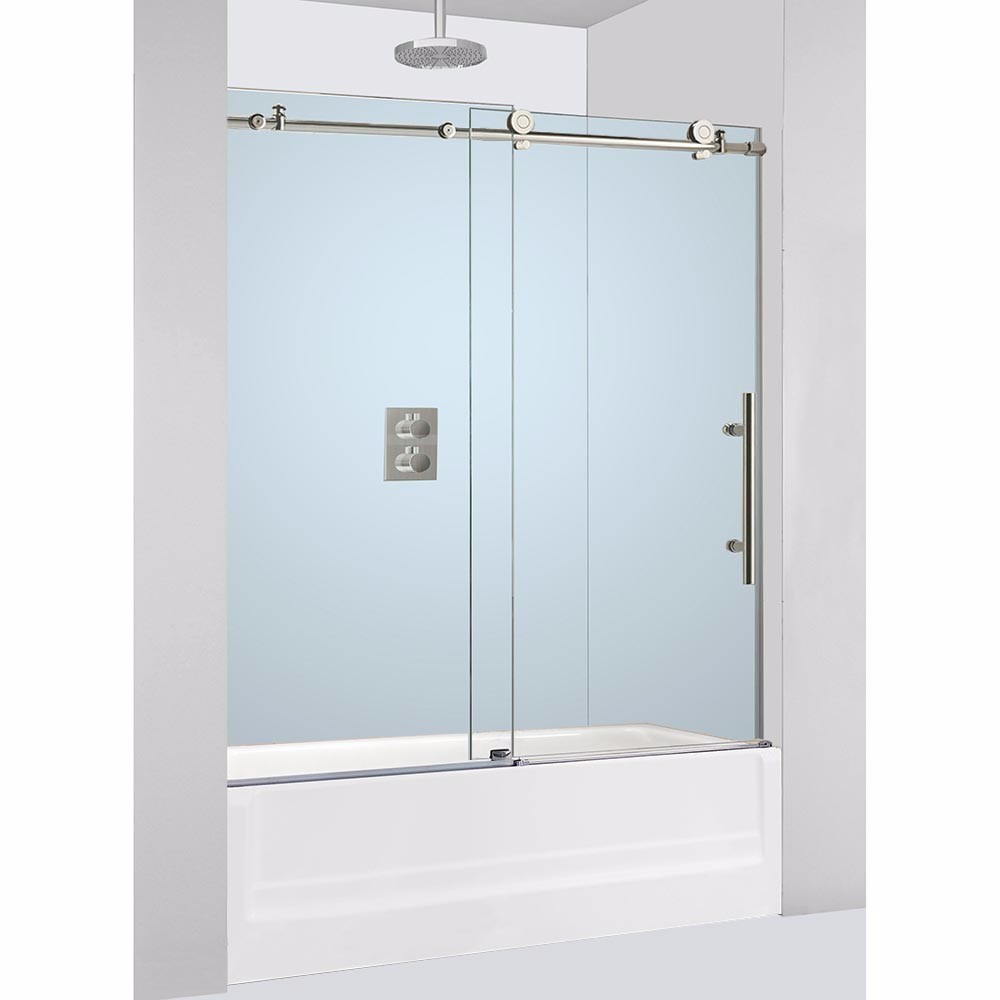 WOODBRIDGE Frameless Sliding Bathtub Door, 56\