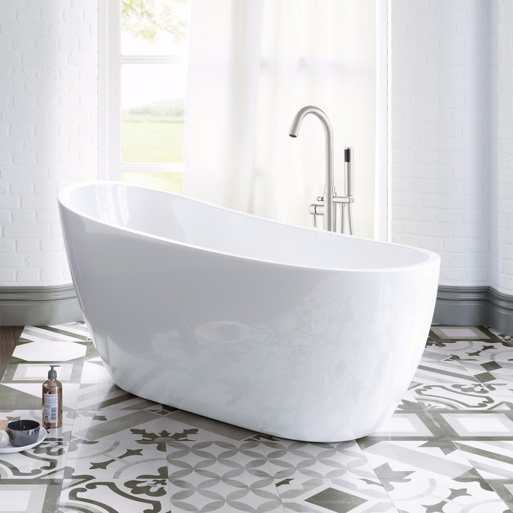 Woodbridge B-0006 Modern Bathroom Glossy White Acrylic Slipper ...