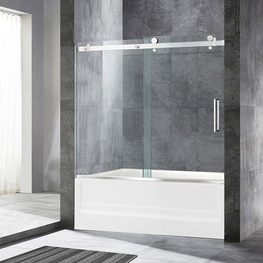 Woodbridge Deluxe Frameless Sliding Tub Door 516 Clear Tempered