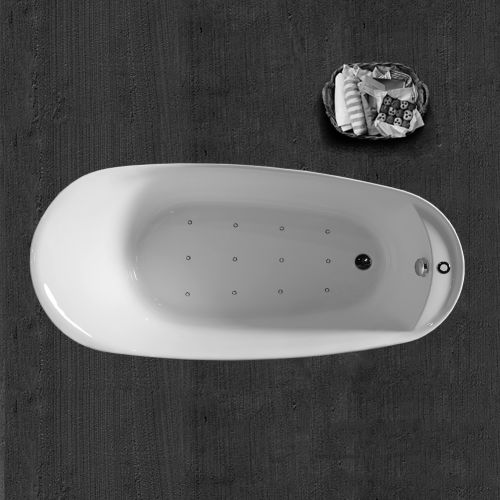 WOODBRIDGE B-0033 Deluxe Air Bubble Free Standing Bathtub, B-0033 Air Bubble Tub