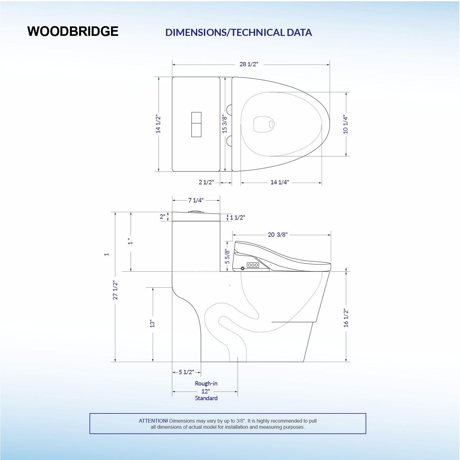 Woodbridge T 0008 Luxury Bidet Toilet Elongated One Piece Air Dryer Schematic With Advanced Seat Smart Temperature Controlled Wash Functions And