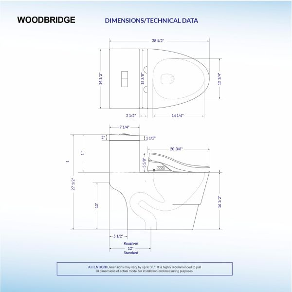 Amazing Woodbridge T 0008 Luxury Bidet Toilet Elongated One Piece Caraccident5 Cool Chair Designs And Ideas Caraccident5Info