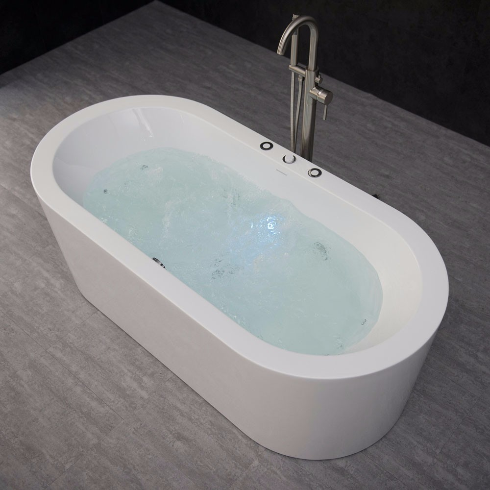 "Whirlpool Air Soaking Bathtub: WOODBRIDGE 67"" X 32"" Whirlpool Water Jetted And Air Bubble"