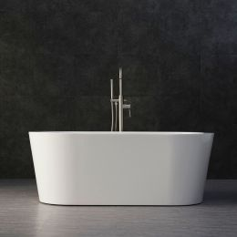 Woodbridge B-0012 Modern Bathroom Glossy White Acrylic Slipper Freestanding Bathtub