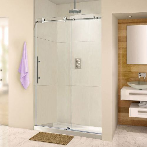 WOODBRIDGE MBSDC4876-C Frameless Sliding Shower Door, Chrome