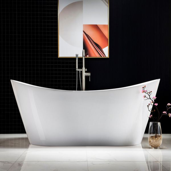 Woodbridge B 0010 Modern Bathroom Glossy White Acrylic