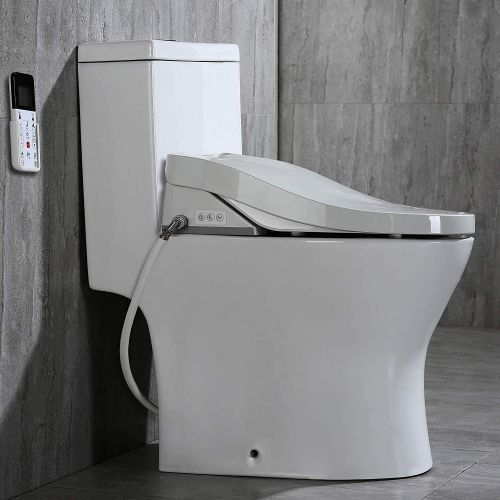WOODBRIDGE Luxury, Elongated One Piece Toilet with Advanced Bidet Seat, T-0022, White
