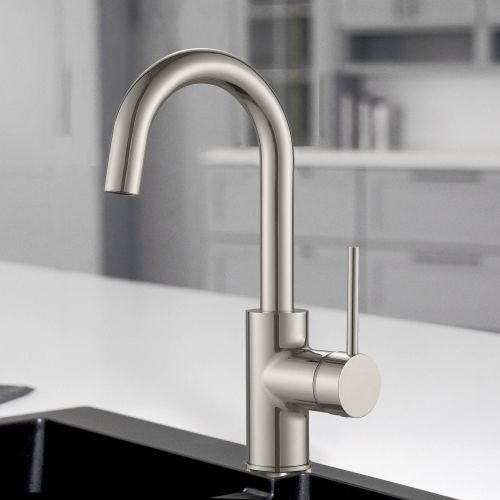 WOODBRIDGE WK02003BN ADA Compliance Deck Mount Single Handle Bar Faucet with Swivel Spout, Brushed Nickel Finish