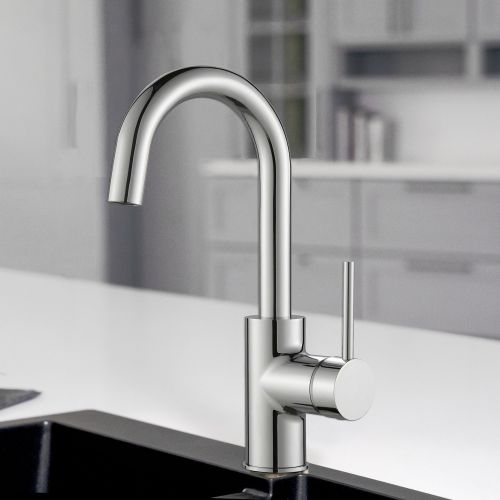 Woodbridge Kitchen Stainless Steel Sink Bar Single Handle Faucets Chrome Finish,WK020003 CH