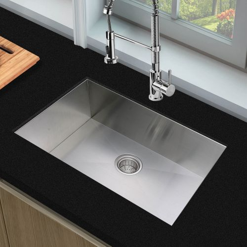 Woodbridge Kitchen Sink, 28 Inch, Stainless Steel MKA2819