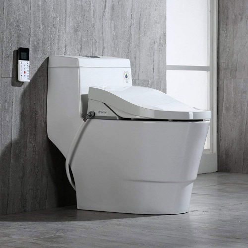WoodBridge  B0940S Luxury Bidet Toilet, Elongated One Piece Toilet with Advanced Bidet Seat, Smart Toilet Seat with Temperature Controlled Wash Functions and Air Dryer