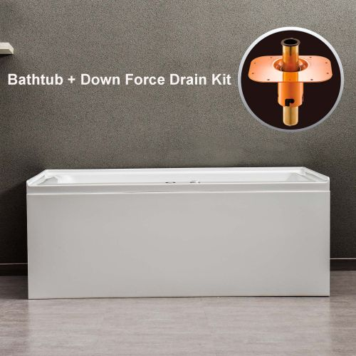 "WOODBRIDGE 60""  Whirlpool Water Jetted Alcove Tub with Right Hand Drain, B0036R"