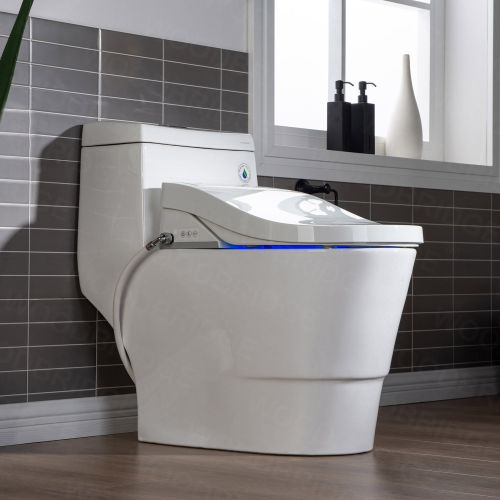 WOODBRIDGE  T 0008 Luxury Bidet Toilet, Elongated One Piece Toilet with Advanced Bidet Seat, Smart Toilet Seat with Temperature Controlled Wash Functions and Air Dryer